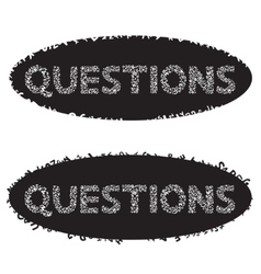 Phrase Questions of the letters vector image vector image