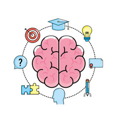 Set creative process and brainstorm invention vector