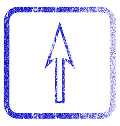 Sharp arrow up framed textured icon vector