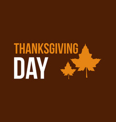 Thanksgiving day style background vector