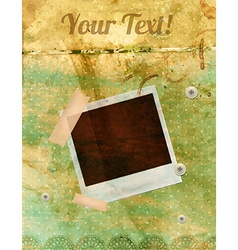 Vintage Polaroid Background vector image vector image