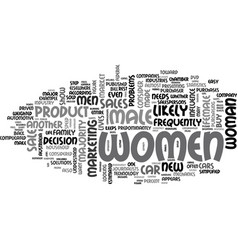 why market to women and how should you do it text vector image vector image