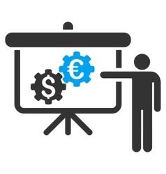 International industry presentation flat vector