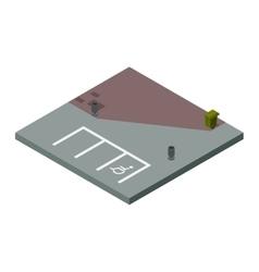 Isometric road design elements vector image