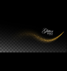 glowing stream of sparkles and light rays vector image