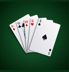 poker hand high cards combination template vector image