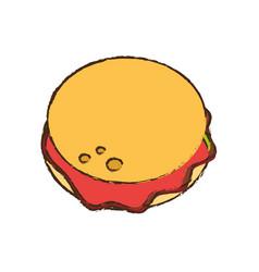 Burger food picnic diet vector