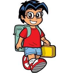 Happy Schoolboy vector image