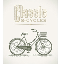 Ladys classic bicycle vector