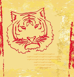 Abstracted doodles tiger vector