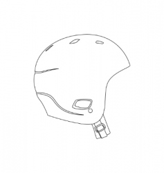 Sports helmet vector