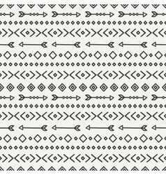 Hand drawn geometric ethnic seamless pattern vector