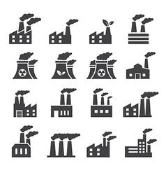 Industrial building icon vector