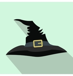 Witch hat flat icon with shadow vector