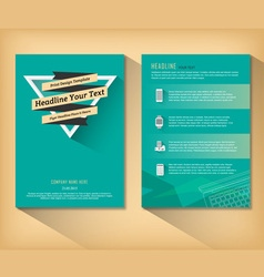 abstract triangle brochure retro flat design vector image