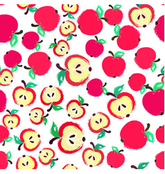 apple background painted pattern vector image vector image