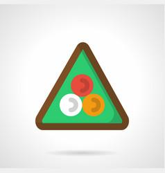 Billiard triangle flat color icon vector