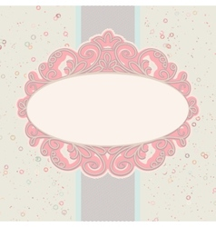 Card or invitation with valentine hearts EPS 8 vector image vector image