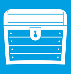 chest icon white vector image