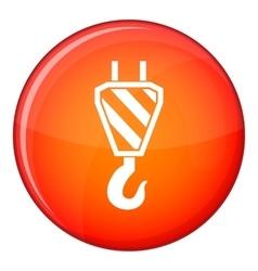 Crane hook icon flat style vector image vector image