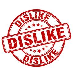 Dislike red grunge stamp vector