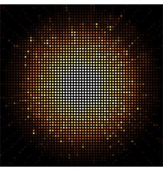 gold starburst mosaic vector image vector image