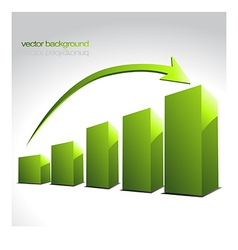 green graph bars vector image