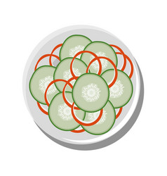 Healthy salad food vector