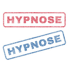 Hypnose textile stamps vector