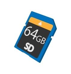 Memory SD card icon cartoon style vector image