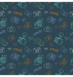 Old camera pattern vector image