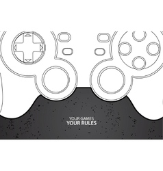 pc or console controller vector image vector image