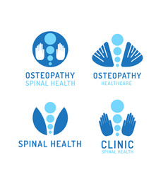 Set logo osteopathy vector
