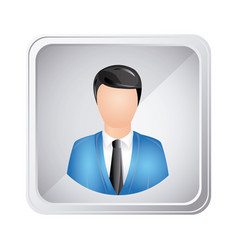Silver emblem technical support man assistant vector