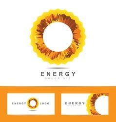 Solar energy symbol logo vector