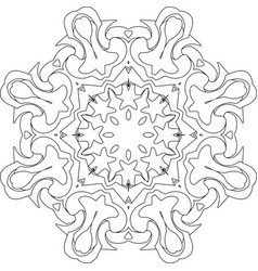 Symmetry curves pattern vector