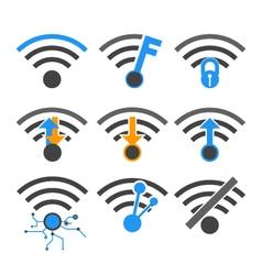 Wireless internet network vector
