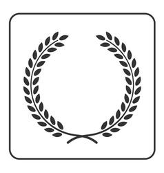 Laurel wheat wreath symbol victory achievement vector