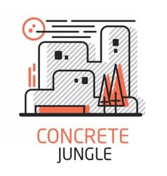 ConcreteJungle vector image