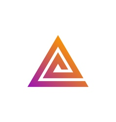 triangle logo template vector image