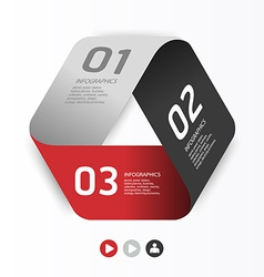 Modern Design template can be used for infographi vector image