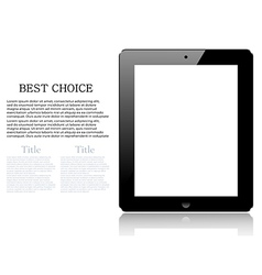 Realistic computer tablet isolated on white vector