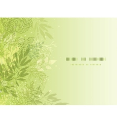 Fresh glowing spring plants horizontal background vector