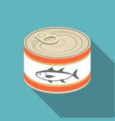 Canned tuna vector
