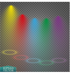 special light effects realistic bright projectors vector image