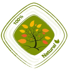 A natural label design vector