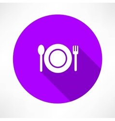 Cutlery icon vector