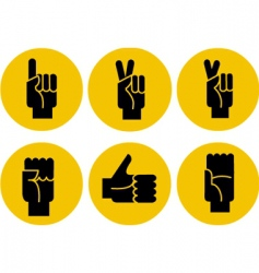 Hand gestures icons vector