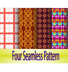 4-seamless-pattern vector