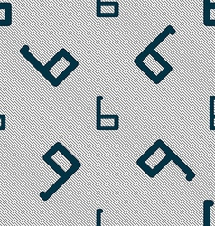 Number six icon sign seamless pattern with vector